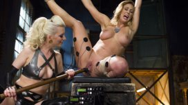 Hot-Latex-Lesbian-Electro-Sex-Cherry-Torn-vs-Cherie-Deville