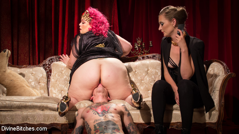 Femdom strapon and ultimate domination from many mistresses 8