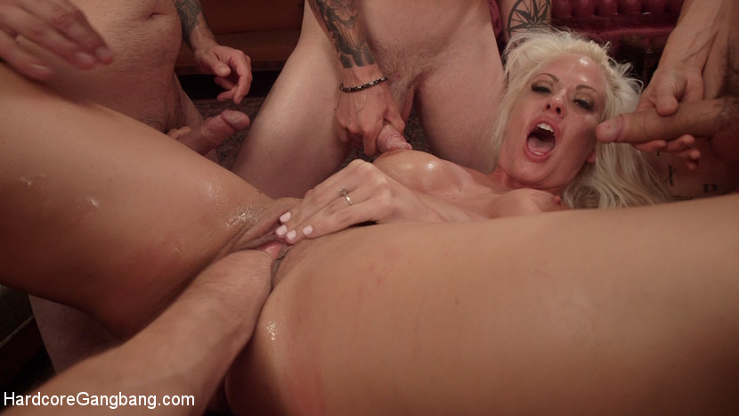 [HardcoreGangbang] All In: Holly Heart gets TRIPLE PENETRATED by HUGE fat cocks!