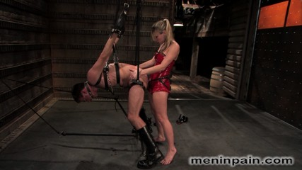 Wild bill and harmony. Harmony Rose mummifies, electrocutes, fucks and blowjob slave boy