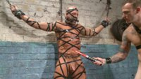 Christian takes this cut stud through the ringer with cruel flogging and relentless enemas.