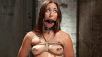 Rilynn Rae is challenged to fuck under intense pressure from bondage, clamps, gags and whips as she is dominated and trained.