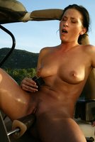Part 3: Hot and sweaty outdoor machine fuck and girl/girl action.