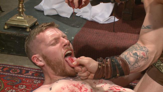 Bound Gods - Cass Bolton - Trenton Ducati - Roman slave offers his entire body to the whims of his cruel Dominus #5