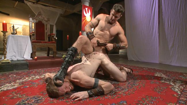 Bound Gods - Cass Bolton - Trenton Ducati - Roman slave offers his entire body to the whims of his cruel Dominus #7