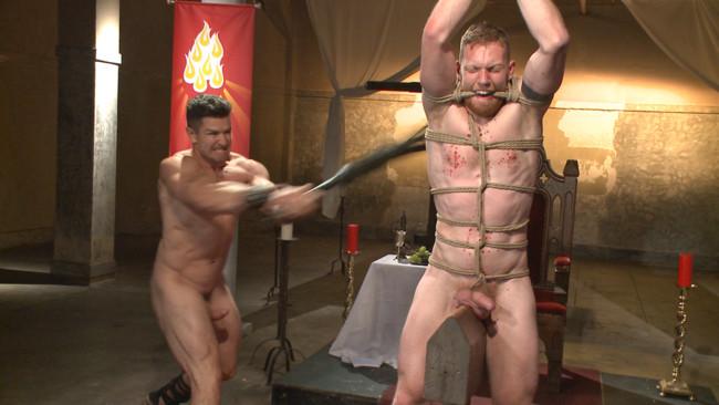Bound Gods - Cass Bolton - Trenton Ducati - Roman slave offers his entire body to the whims of his cruel Dominus #8