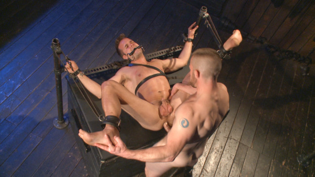 Bound Gods - Adam Herst - Connor Patricks - Tormented Without Mercy - Connor Patricks suffers tight metal bondage #8