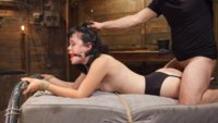 Yhivi in heavy bondage and hardcore sex, crazy gags, deep throat cock suckings, heavy pussy pounding in tight bondage