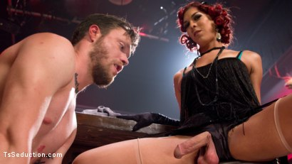 Beautiful TS Kendra Sinclaire and her HUGE cock fuck slaveboy then she demands he fuck her while she squirts her load straight in the air!