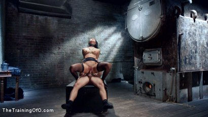 Petite Brunette Sabrina Banks pussy pounded in tight bondage when Mr. Pete trains her to be his sex and bondage slave.
