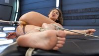 Big-Assed-Bombshell, Abella Danger gets tied up and takes an extreme Mechanical-Pussy-Pounding on Fucking Machines!!