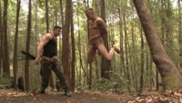 Trenton Ducati drags Tyler Rush deep into the woods for hard corporal punishment and extreme fucking.