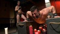 Two Muscular Hunks in a Hard and Passionate BDSM Session