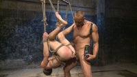 BDSM-Virgin-tormented-with-electricity-and-fucked-in-suspension