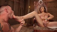Mistress Venus Lux uses her hard cock to dominate military boy!