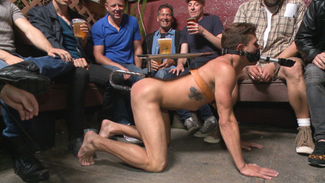 Bound in Public - Trenton Ducati - Jessie Colter - Alexander Gustavo - Go-go dancer serves his bar with mouth & ass for SF Pride #15
