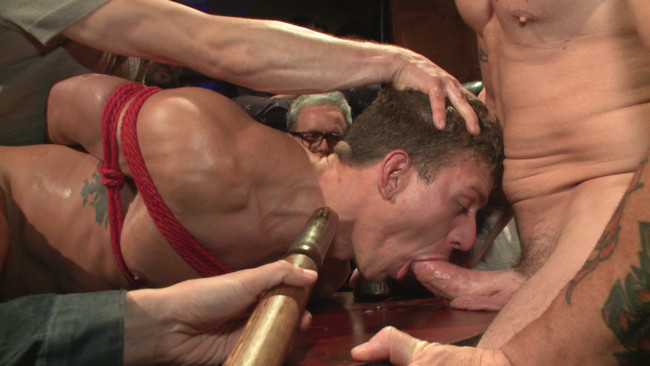 Bound in Public - Trenton Ducati - Jessie Colter - Alexander Gustavo - Go-go dancer serves his bar with mouth & ass for SF Pride #7