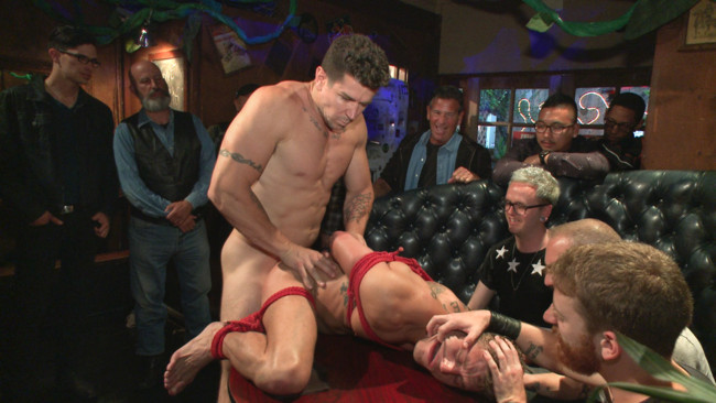 Bound in Public - Trenton Ducati - Jessie Colter - Alexander Gustavo - Go-go dancer serves his bar with mouth & ass for SF Pride #10