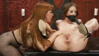 Two steaming hot red heads do not disappoint. Anal Dildo Gag, Fistings, Gaping after a good Hard Strap on fucking.