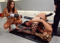 All anal machine fucking between Kat, Keeani Lei and Julie Night.