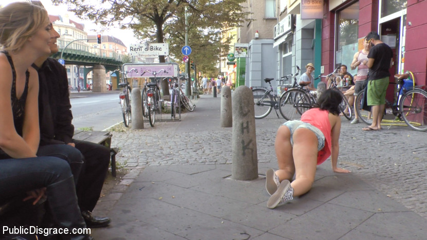 Filthy bitch of berlin humiliated at underground sex club. Busty