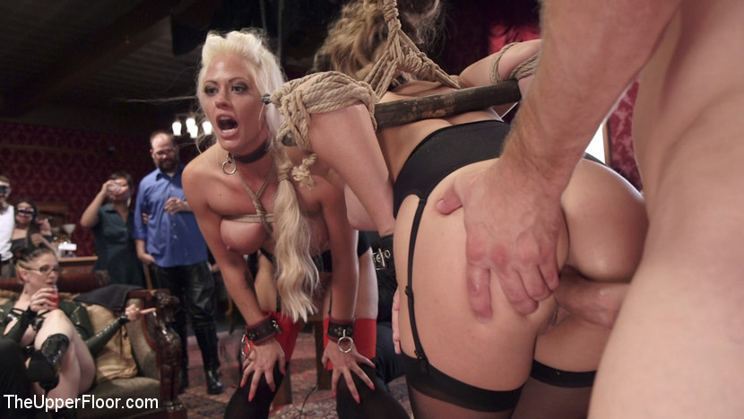 Degraded blond is trained to worship balls and eat ass 3