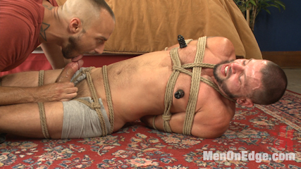 Texan stud receives his first edging in bondage. This KinkMen fan from Dallas wants the full treatment, so Jessie brings him in for his first edging session