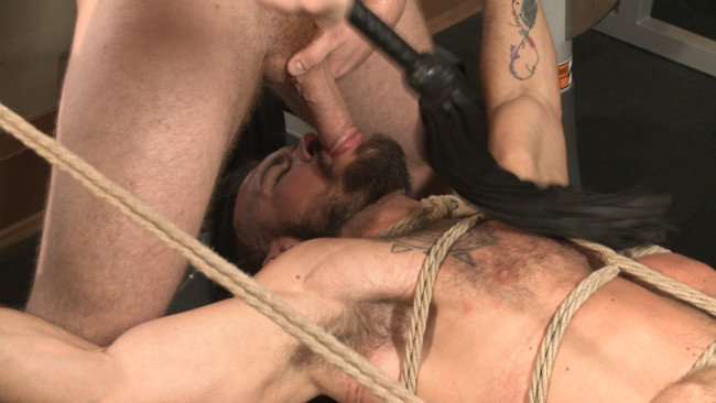 Bound Gods - Connor Maguire - Aarin Asker - Ripped gym rat Aarin Asker takes a giant fist while in suspension #12