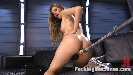 Fresh Meat – Long Legged Blonde Gets Ravaged by Fucking Machines