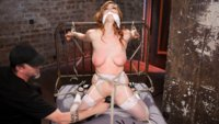 Penny Pax is subjected to grueling bondage, flogging, bastinado, tickling, caning, ass fucking, pussy fucking and heavy breath control.