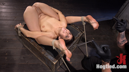 Newcomer is Man Handled, Bound in Brutal Bondage and Tormented