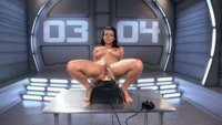 She squirts on all of our machines and then we empty her of her sex juices with the sybian.
