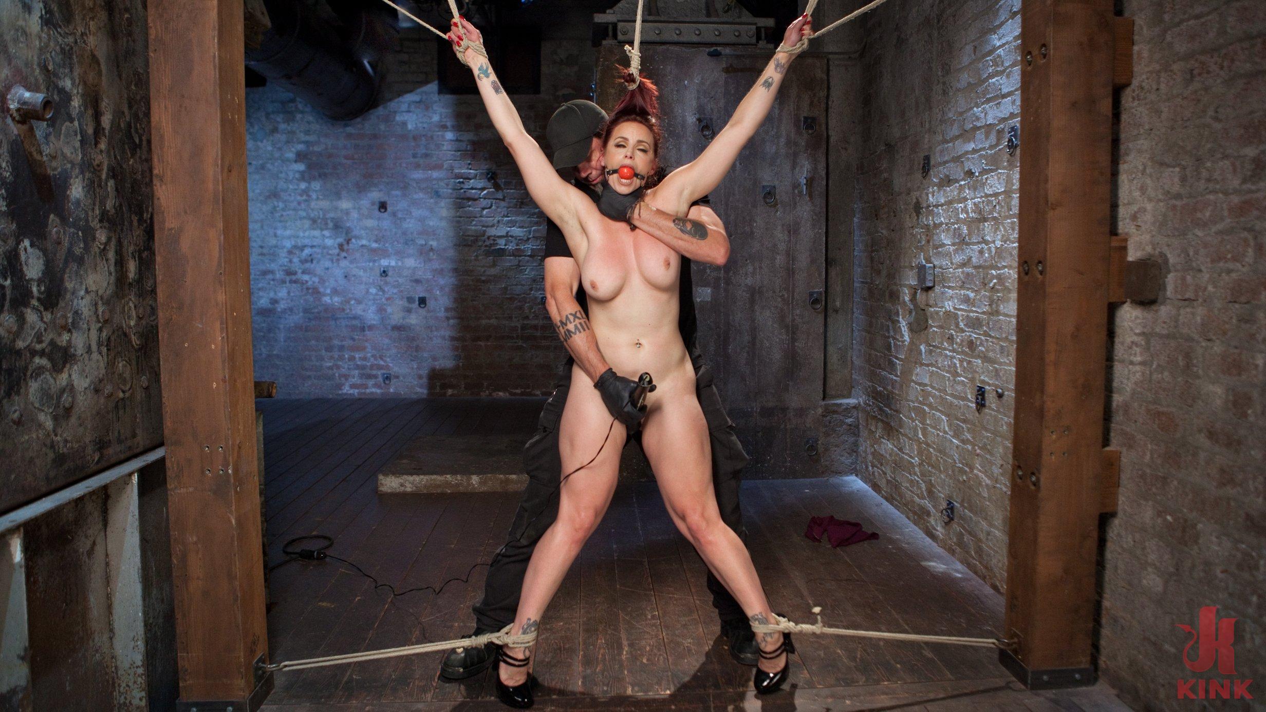 Celina cross bondage