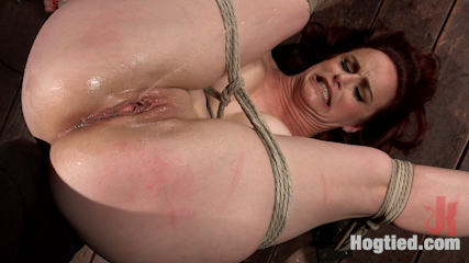 Heavy tits inhuman bondage extreme corporal punishment and squirting orgasms. Bella Rossi returns to Hogtied, and she suffers in brutal bondage for all to see.