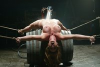 Bound over barrels Christina Carter makes every man hard