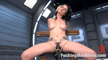 Veruca James is Machine Fucked in Tight Bondage