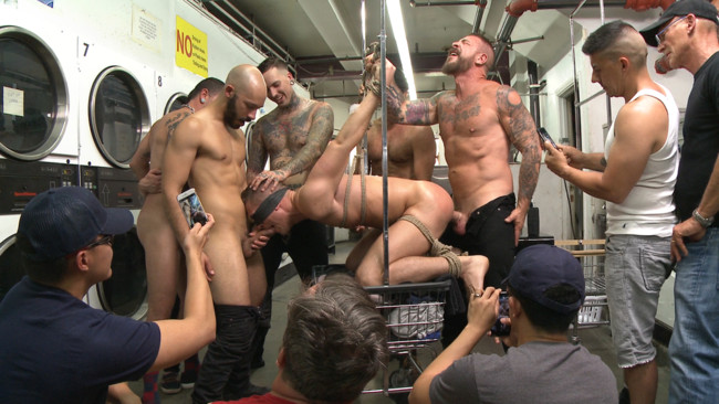 Bound in Public - Tyler Rush - Rocco Steele - Ruckus - The Laundromat Spitroast #1