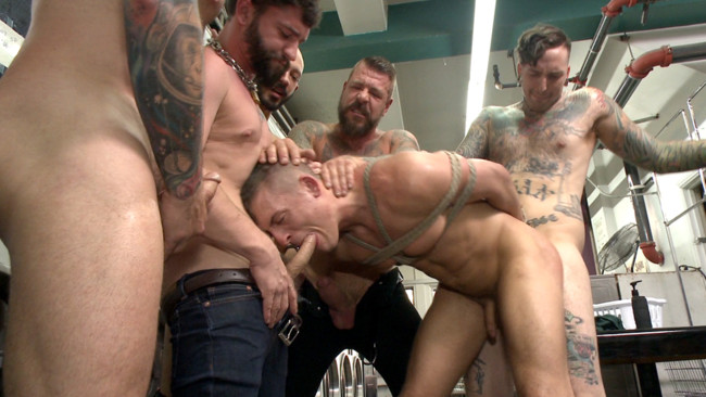 Bound in Public - Tyler Rush - Rocco Steele - Ruckus - The Laundromat Spitroast #12