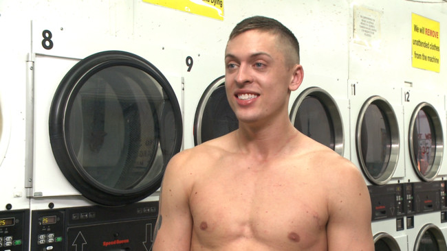 Bound in Public - Tyler Rush - Rocco Steele - Ruckus - Edged, tormented and gang fucked in a dirty laundromat #1