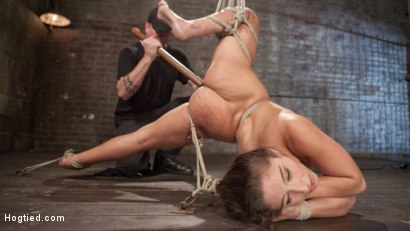 Abella suffers through brutal domination and punishment while in extreme bondage.