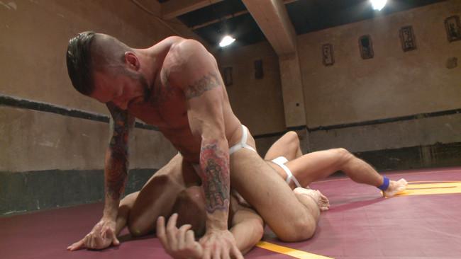 Naked Kombat - Dirk Caber - Hugh Hunter - Muscle Matchup - Dirk Caber vs Hugh Hunter #5