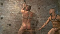 Jessie Colter uses and abuses a eager and horny Hugh Hunter in a dark basement.
