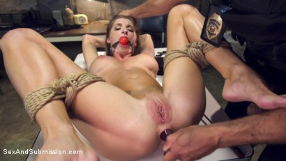 Ramon Nomar punishes tourist Silvia Saige with hard anal sex, bondage, clamps, imprisonment and erotic humiliation.