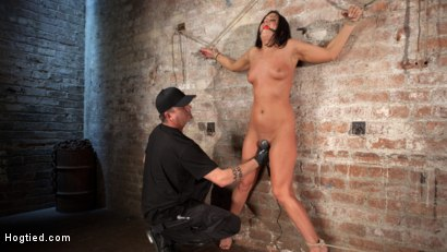 Rope bondage that makes her helpless and vulnerable to the sadistic desires of The Pope. Flogging, crotch ropes, caning, and EXTREME ANAL FISTING!
