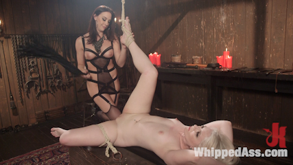 Chanel preston s hot new play thing. Hot blonde bound, spank and anus strap-on make love by mistress Chanel Preston!