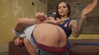 Dude can't afford rent so he suck his landlord, TS Foxxy's beautiful wet gorgeous TS cock for rent!