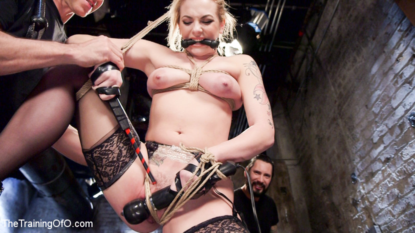 Dahlia sky s arse pain and delighting. Bootyy slave girl Dahlia Sky is made to choose between pain and delight to please her master in this greatcore BDSM and booty sex movie. Dahlia endures predicament bondage, electricity sex, great face fucking, great bondage, gags, drool, deep booty sex and multiple orgasms at the hands of two sadistic slave trainers.
