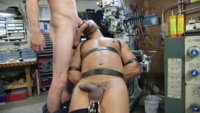 Horny shop worker Troy Sparks gets in over his head as Jay Rising fucks and beats him into submission