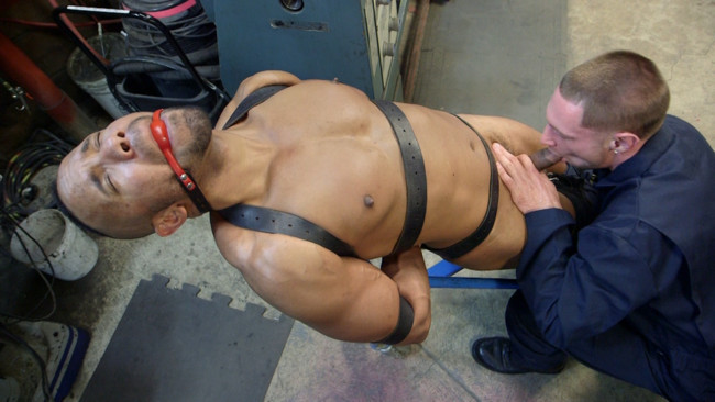 Bound Gods - Jay Rising - Troy Sparks - Zapped, Beaten & Fucked! - Lazy Shop Worker Takes His Punishment #3