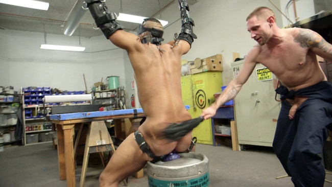 Bound Gods - Jay Rising - Troy Sparks - Zapped, Beaten & Fucked! - Lazy Shop Worker Takes His Punishment #9